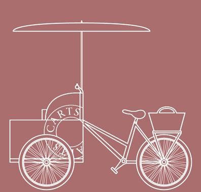 Custom designed and branded ice cream bike