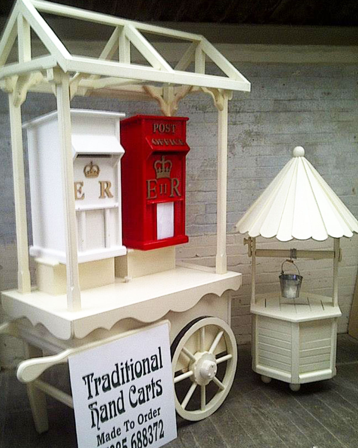Custom Weddings Package Including Gift Post Boxes Cart And Wishing