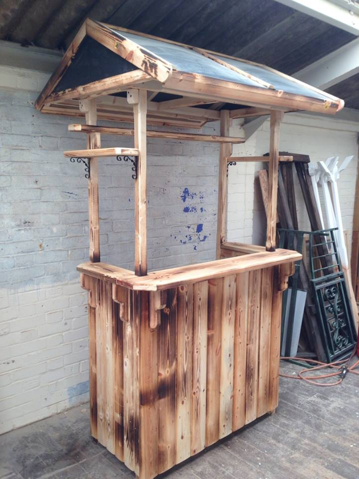Beautiful Bespoke Wooden Garden Drinks Bar · 12